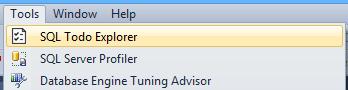 SQL Todo Explorer menu command