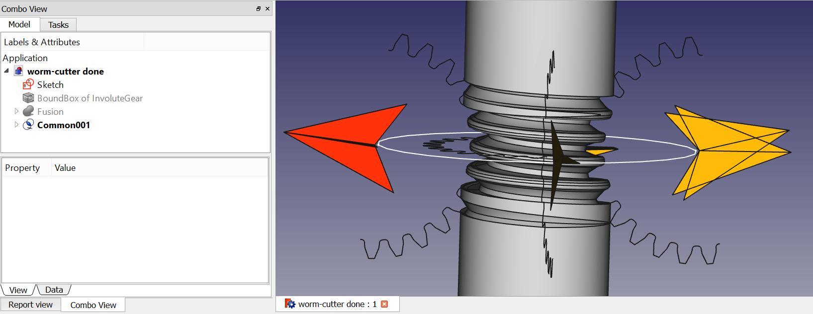 Lattice2-FreeCAD-wormcutter