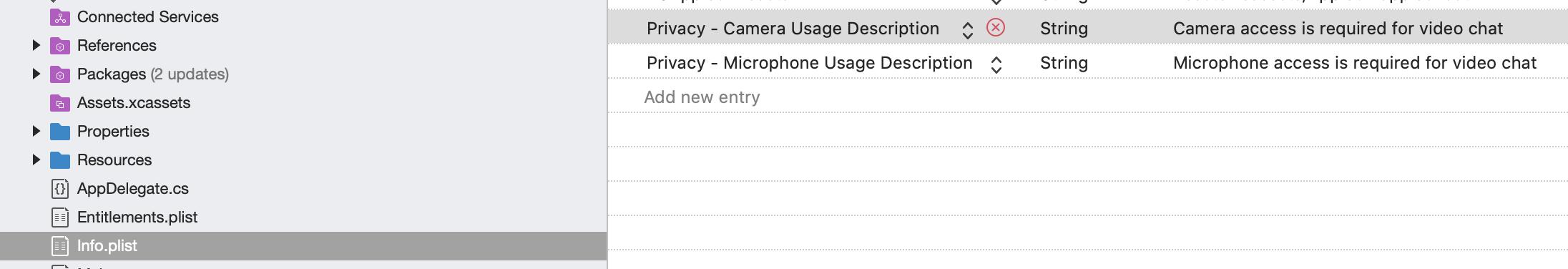 iOS permissions