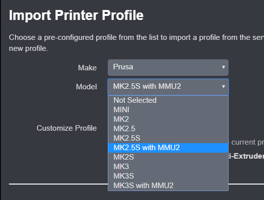 Import Profiles from the Repository