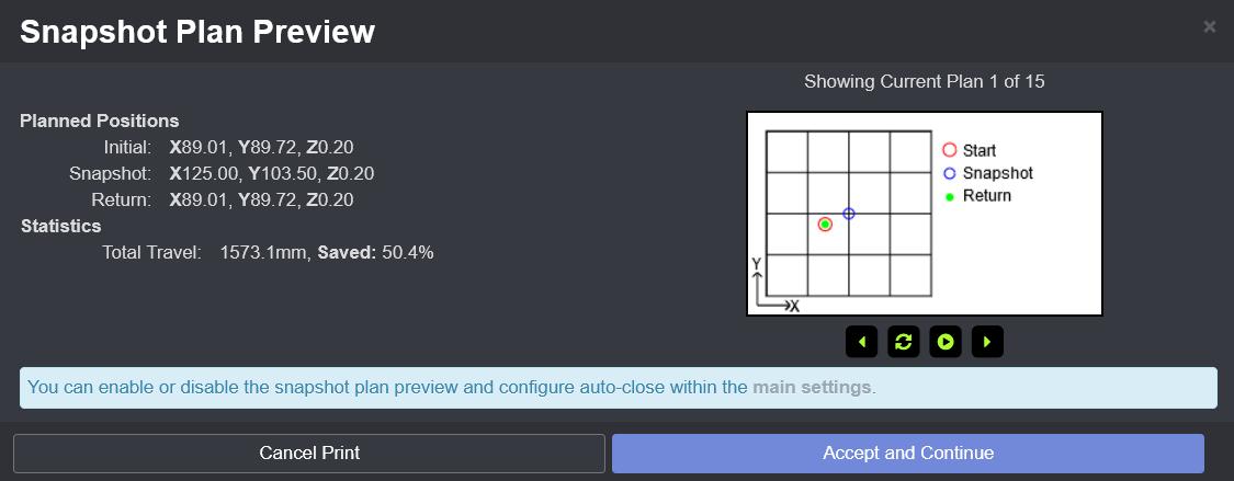 Smart Trigger Snapshot Plan Preview
