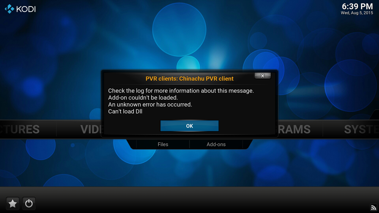Kodi for Android error