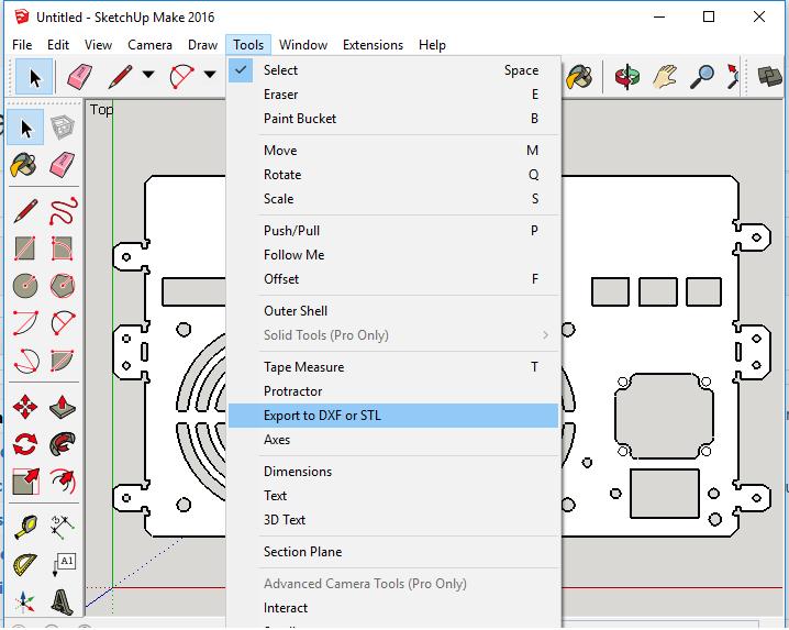 Workflow: Sketchup 2D · LaserWeb/deprecated-LaserWeb3 Wiki