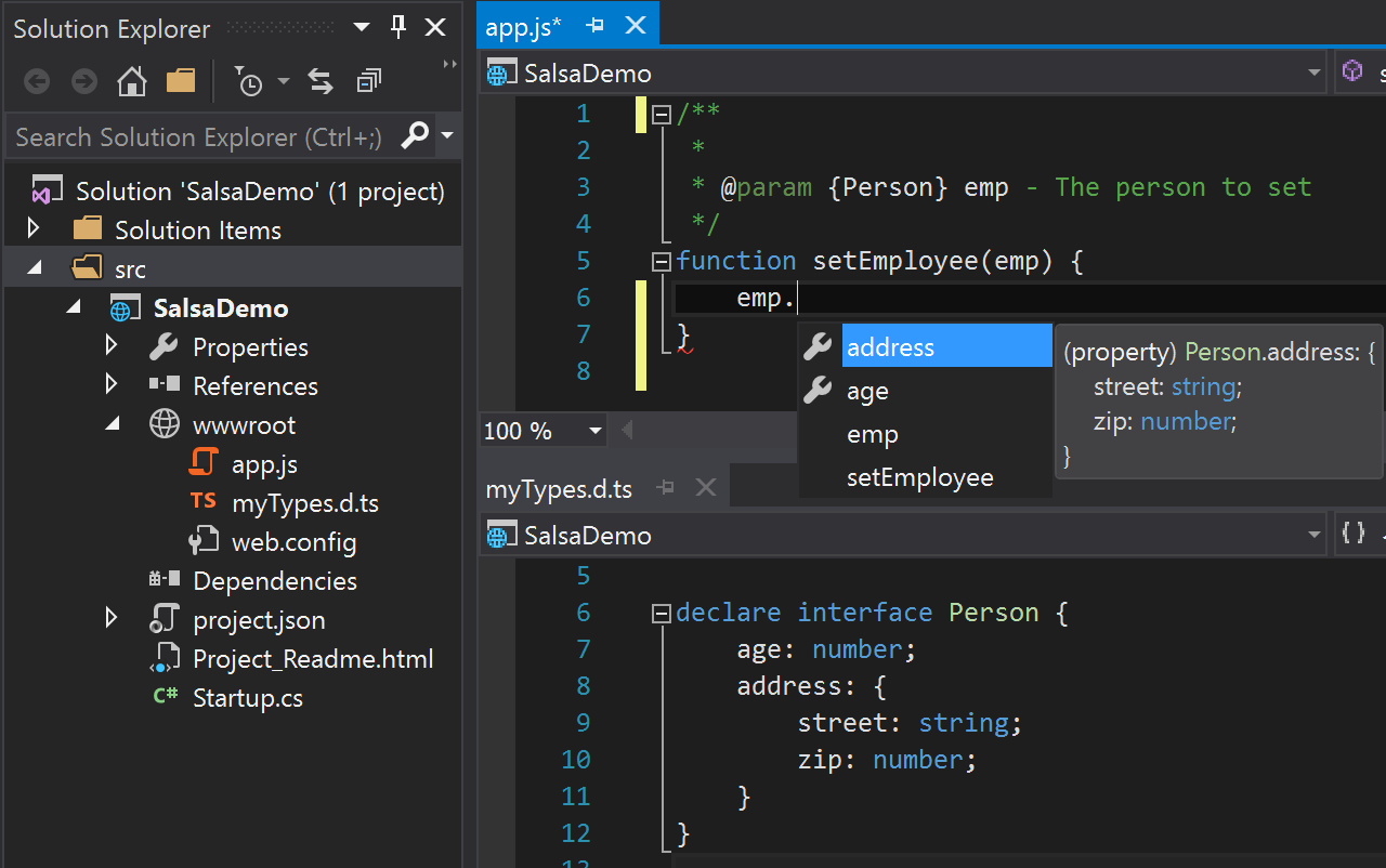 TypeScript definition file