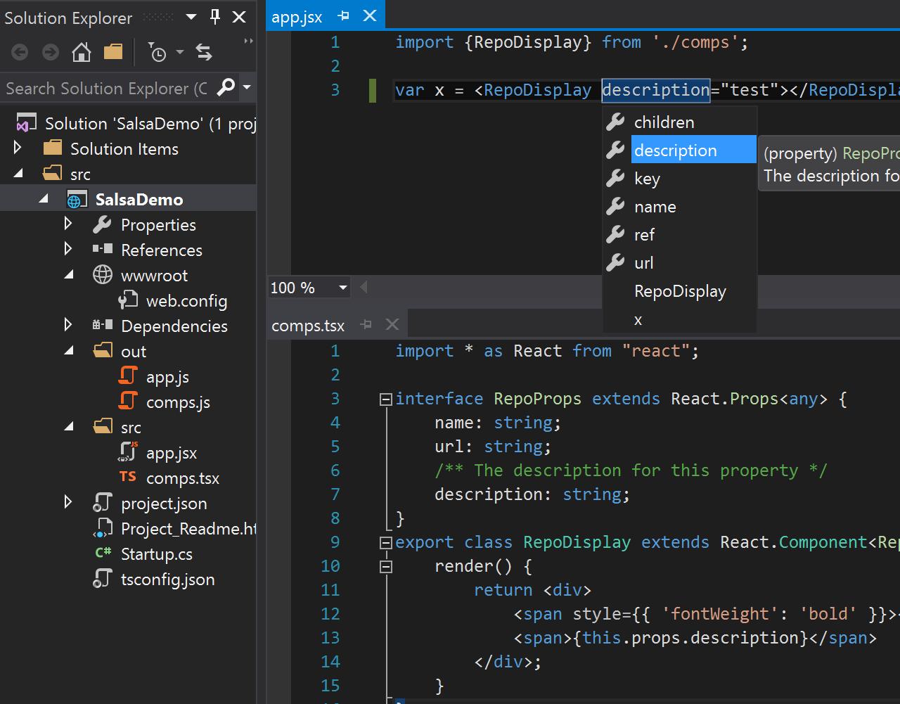JavaScript Language Service in Visual Studio · microsoft