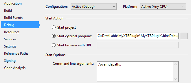 Project Debug program