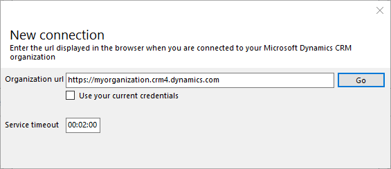 Connecting to a Microsoft Dynamics CRM deployment · MscrmTools