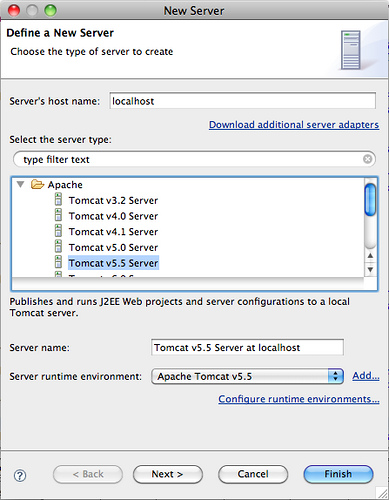 Setting Up a Tomcat Server in Eclipse · OneBusAway