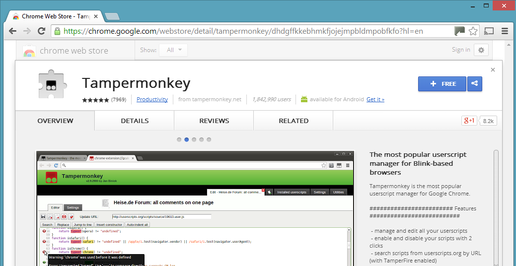 Tampermonkey for Chrome · OpenUserJS/OpenUserJS org Wiki