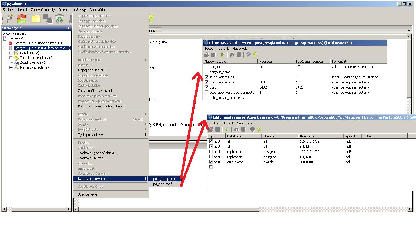 úprava konfiguračních souborů