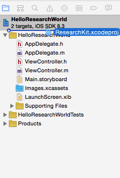 Adding the ResearchKit framework to your    project