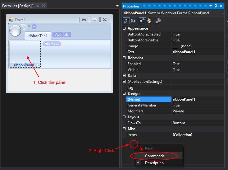 Tip - Using Ribbon Control in WinForms | C# Developer Community