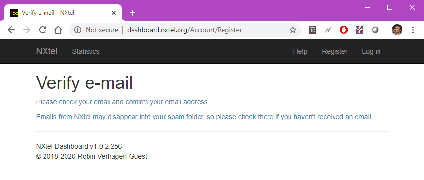 NXtel Account Pending Confirmation