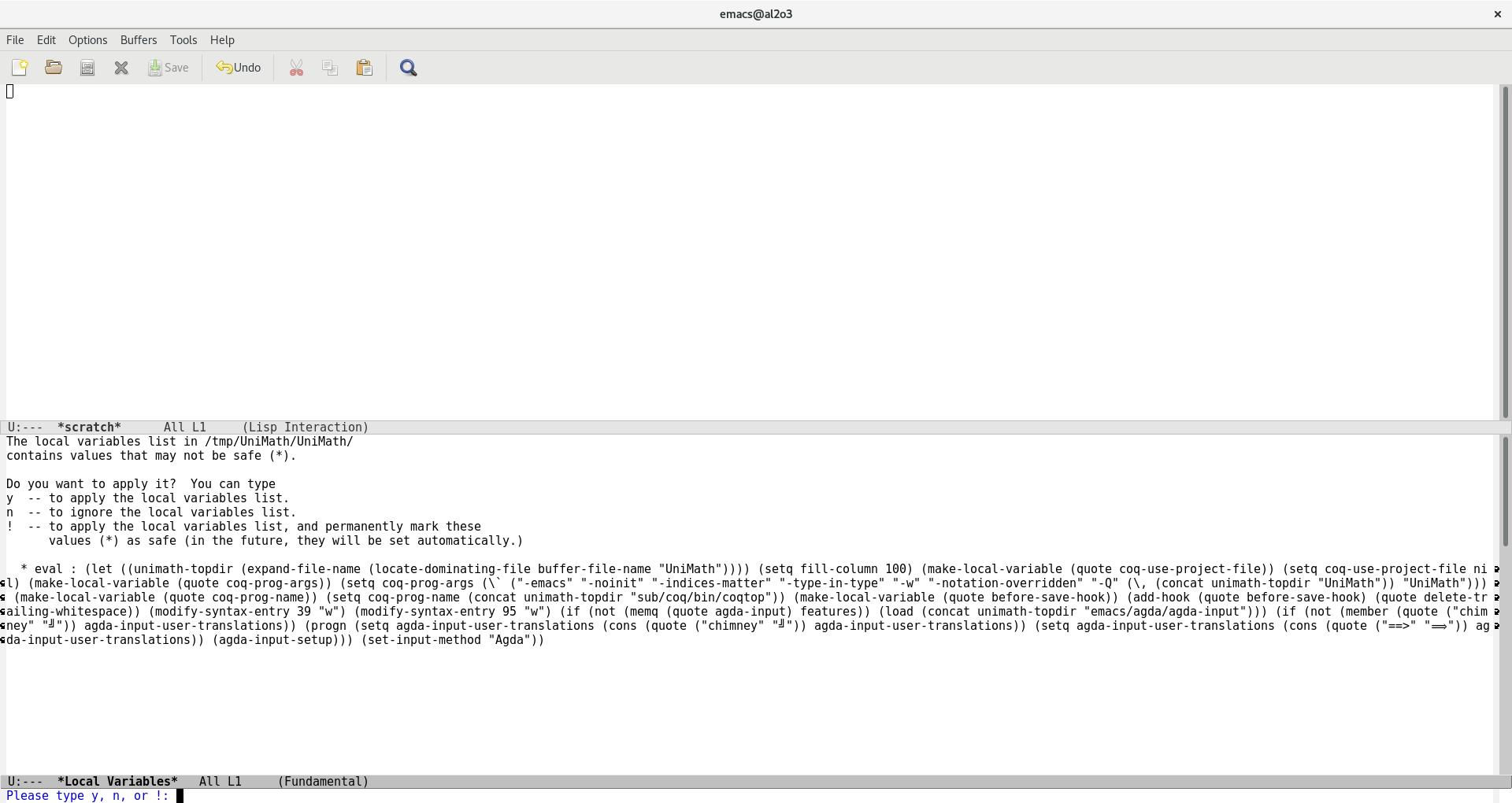 Screenshot Emacs
