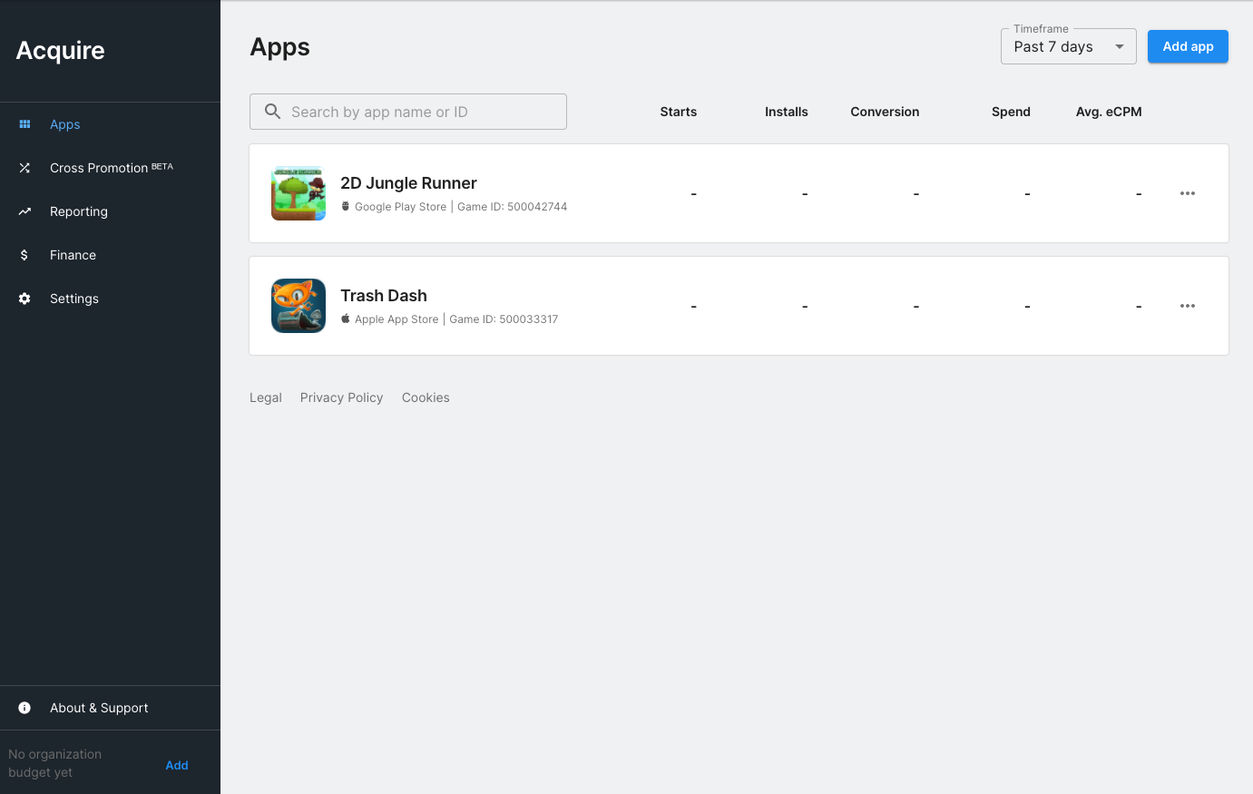 Creative Apps page
