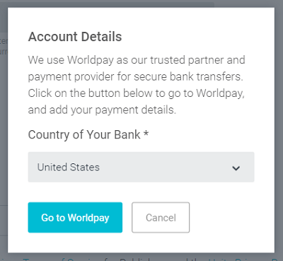 Rerouting to Worldpay secure payment processing.