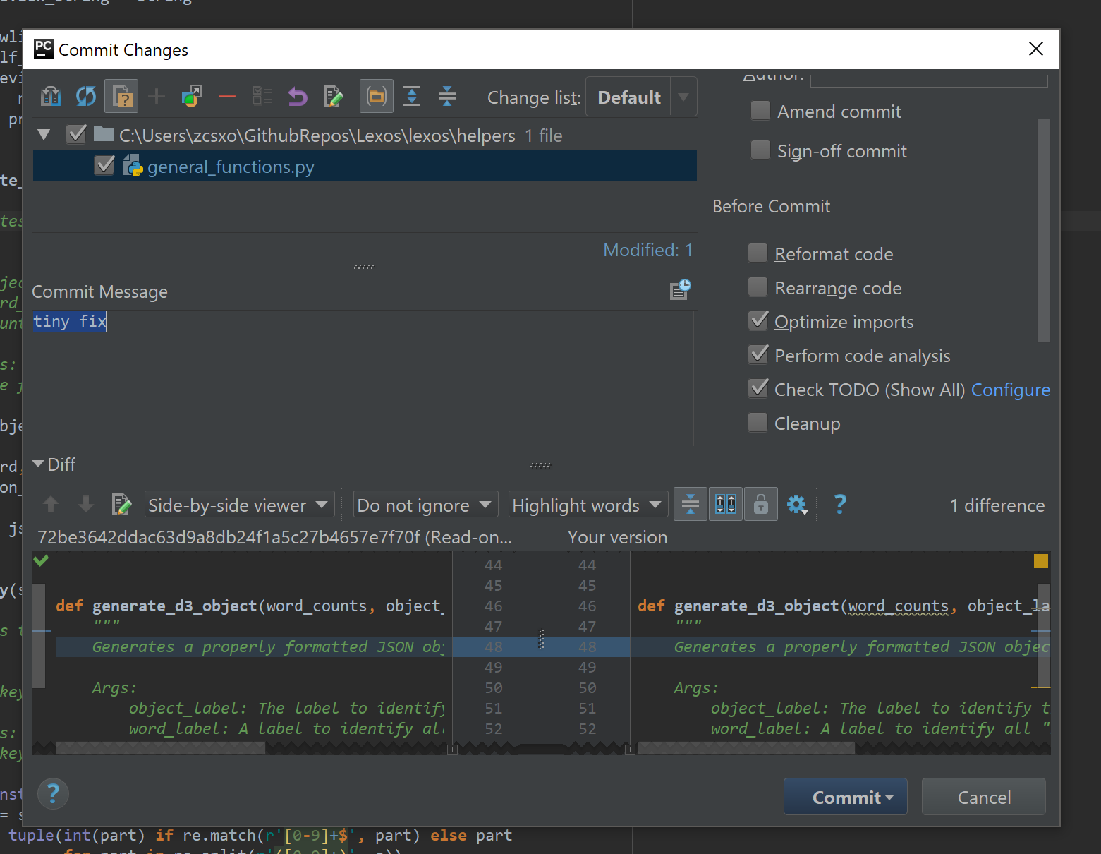 clear read only status pycharm