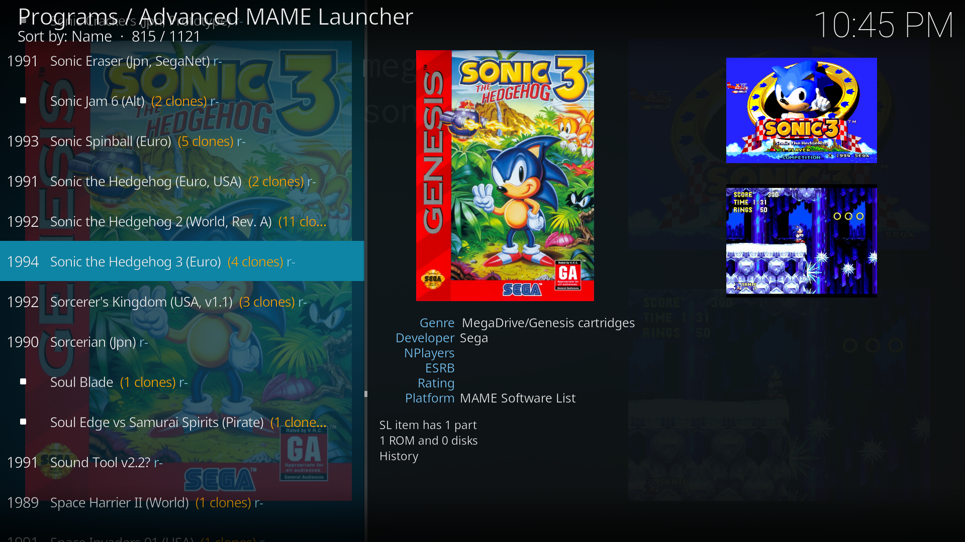 Advanced MAME Launcher - MAME frontend for Kodi