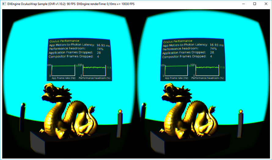 Oculus Rift with Ab3d.DXEngine DirectX 11 rendering