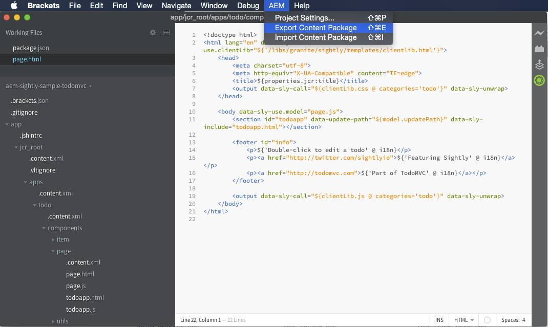 GitHub - mcdan/aem-sightly-brackets-extension: Brackets