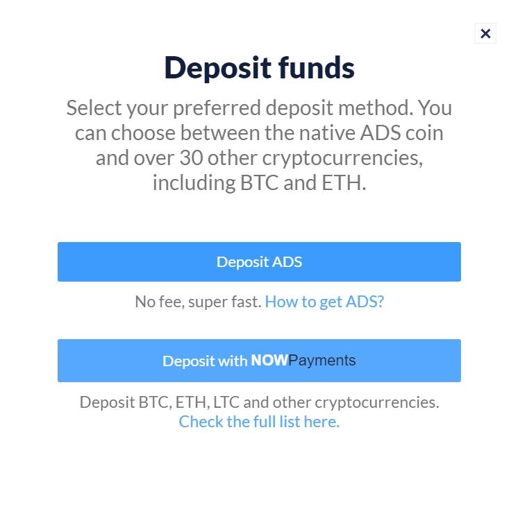 Deposit ADS