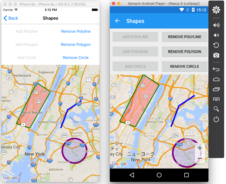 Comparison with Xamarin Forms Maps · amay077/Xamarin Forms