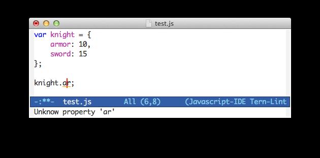 Emacs & TernLint