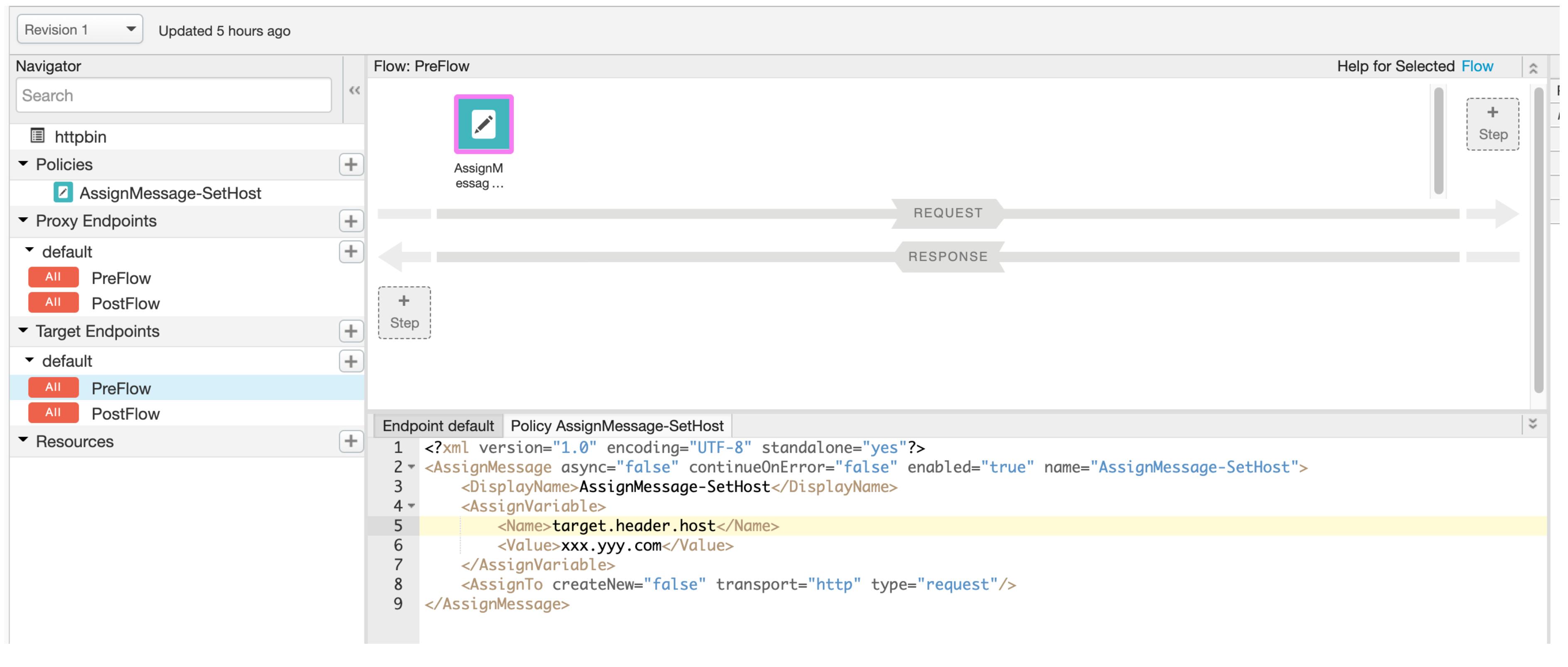 Edge UI Assign Message to Set Host