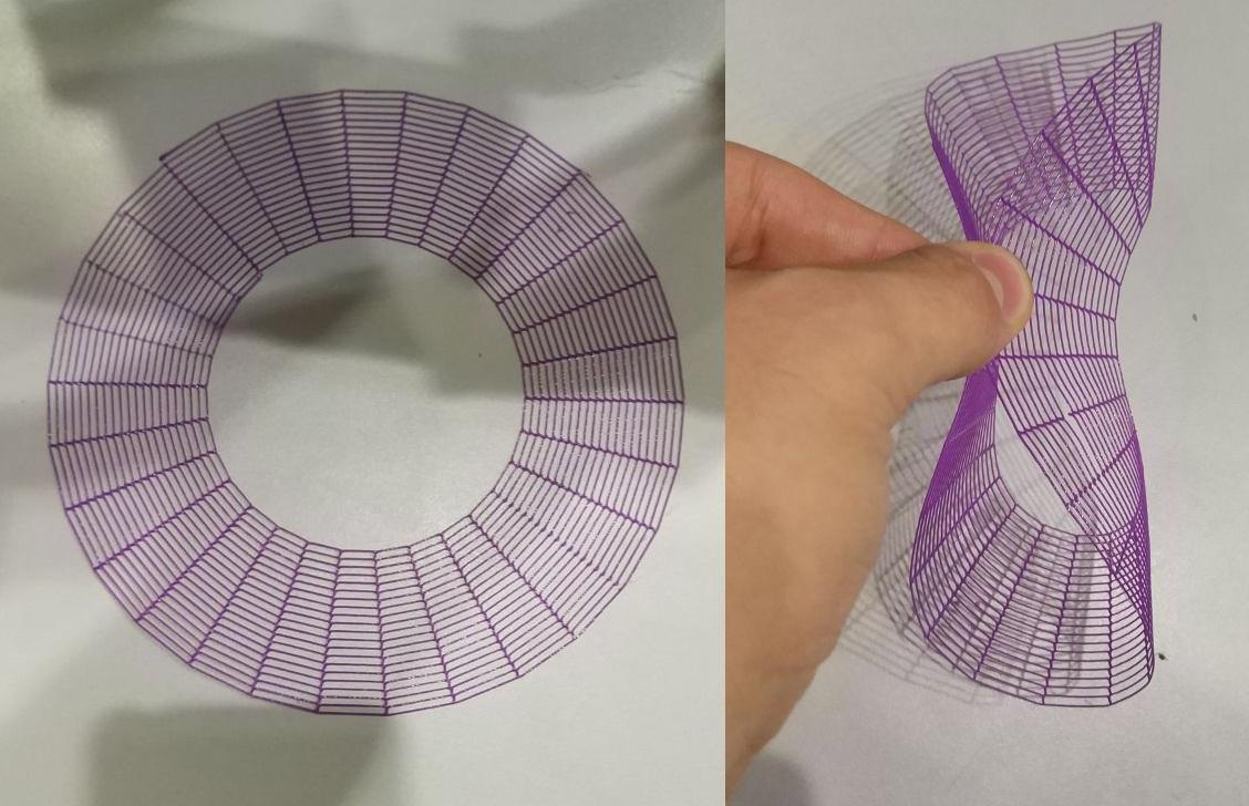 Dédalo ha impreso una pieza con forma de telaraña flexible, 28 de noviembre