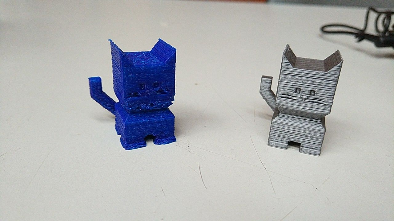 Calicats idénticos impresos por Blacky e Hija Resurrection