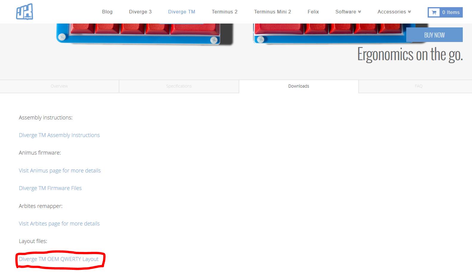 Web layout download screenshot
