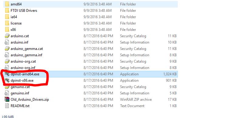 FTDI installer screenshot
