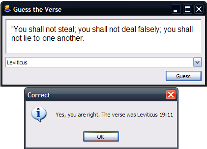 Guess The Verse Game