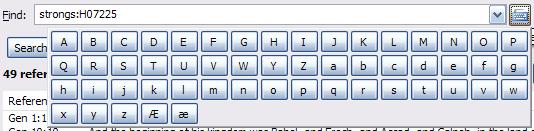 Search Keypad