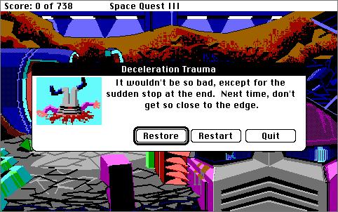 SpaceQuest 3 Death