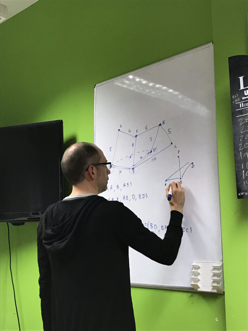 Murray Steele is confused by the algorithm and draws a tree to try and understand
