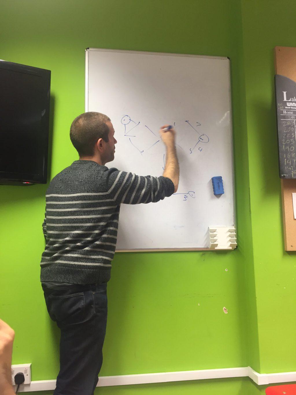 Tom Stuart draws a steiner tree