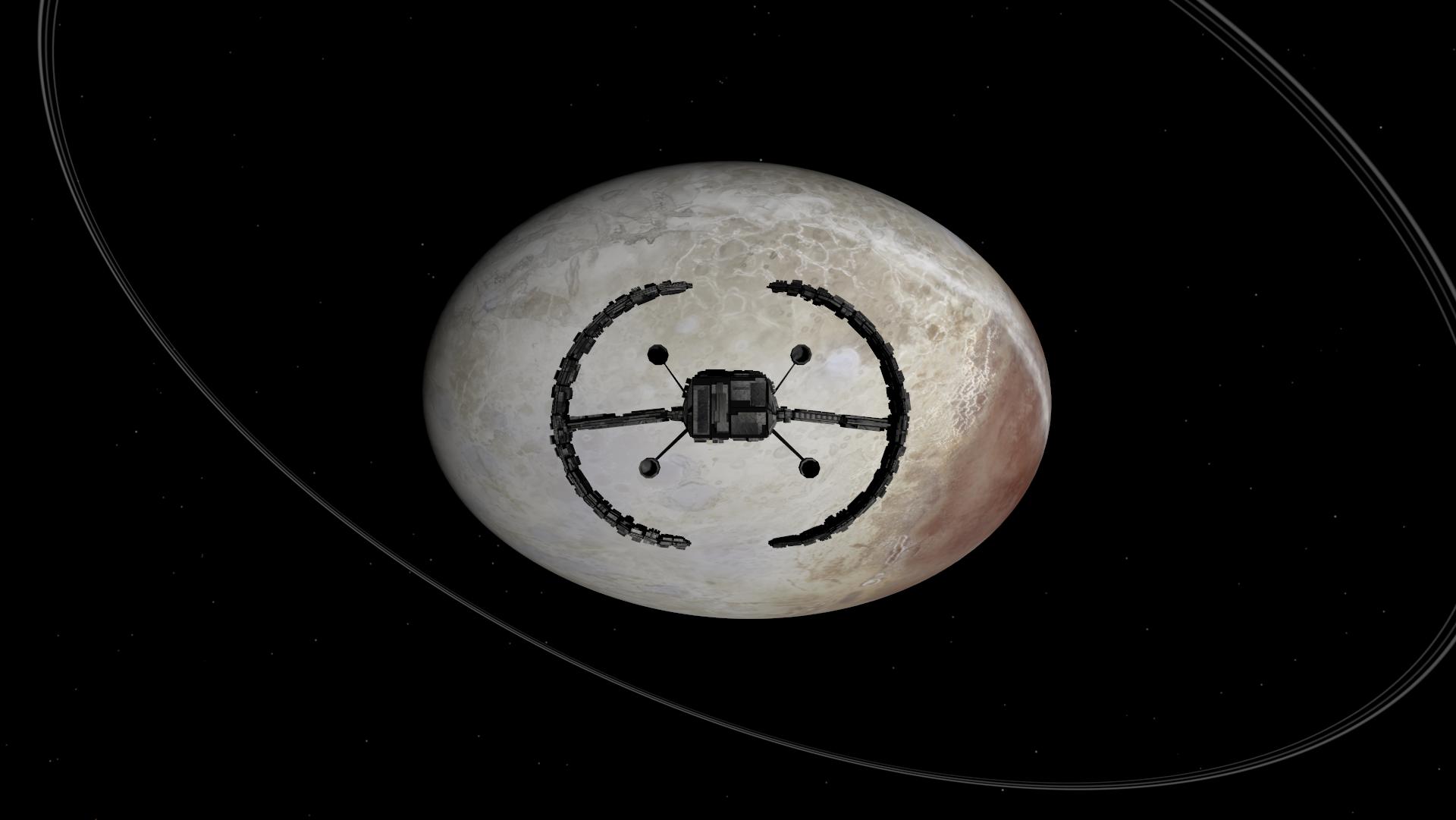 Haumea and a ship