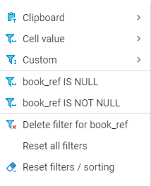 Reset Filter