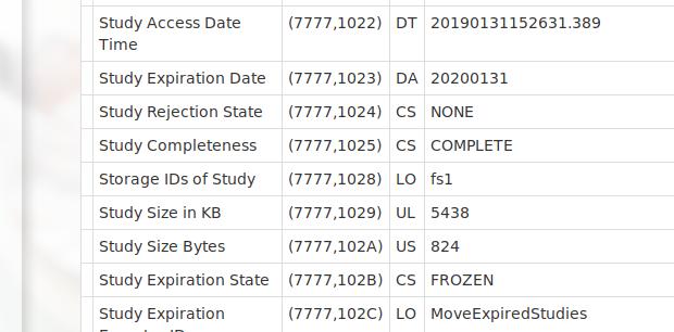Freeze Expiration Date Individual Studies · dcm4che/dcm4chee-arc