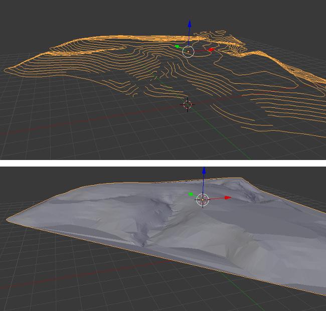 Make terrain mesh with Delaunay triangulation · domlysz