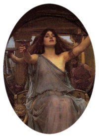 Circe Offering the Cup to Odysseus, by John William Waterhouse (1849–1917); currently in the Oldham Art Gallery, Oldham, U.K.