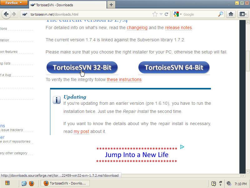 tortoise svn download windows 7 64 bit