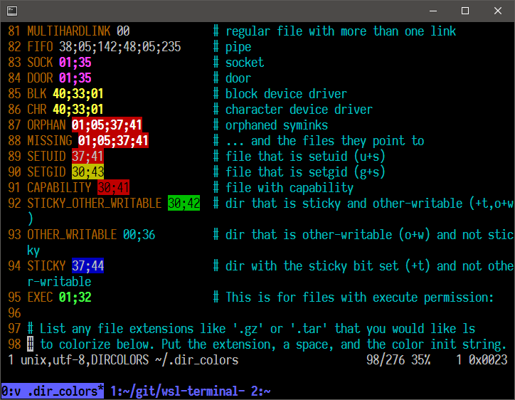 goreliu/wsl-terminal Terminal emulator for Windows Subsystem