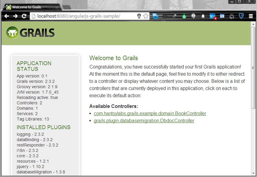 grails run-app
