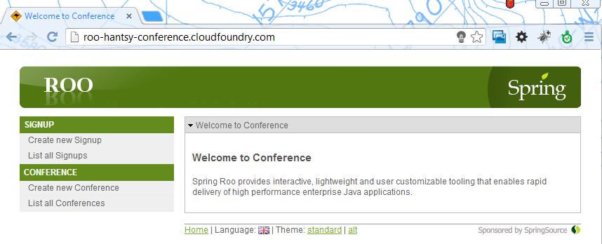 Homepage in cloud