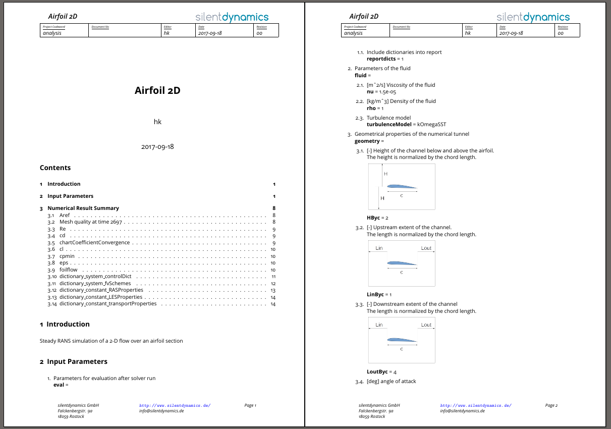 Report Airfoil P1 and P2
