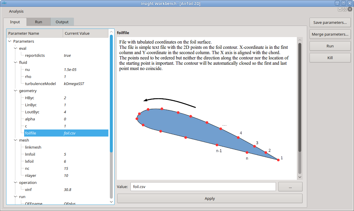 Workbench Airfoil Parameter Editing