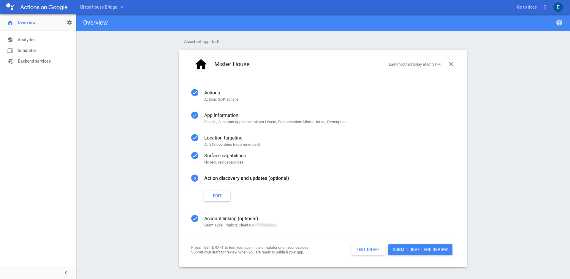 Integration With The Actions on Google Smart Home Provider
