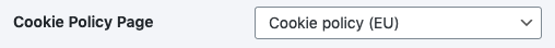 Cookie Policy Page setting